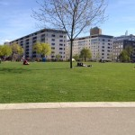 Pérolles Park liegt unweit vor dem Haus